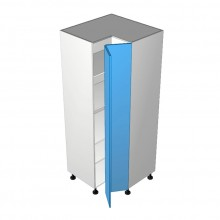 Stylelite Acrylic - Pantry Cabinet - Open Corner - 2 doors - Hinged Right