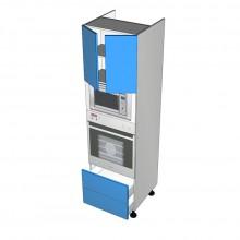 Formica 16mm ABS - Walloven Cabinet - Microwave Recess - 2 Doors - 2 Drawers (Blum Legrabox)