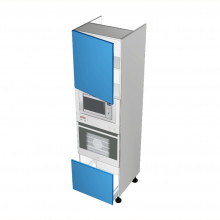 Raw MDF - Walloven Cabinet - Microwave Recess - 1 Door - Hinged Left - 1 Drawer (Finista)