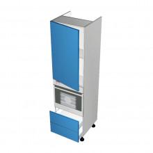 Raw MDF - Walloven Cabinet - 1 Door - Hinged Left - 2 Drawers (Blum Legrabox)