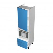 Raw MDF - Walloven Cabinet - 1 Door - Hinged Left - 3 Drawers (Blum Legrabox)