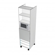 Carcass Only - Walloven Cabinet - Microwave Recess - 3 Drawers (Blum)