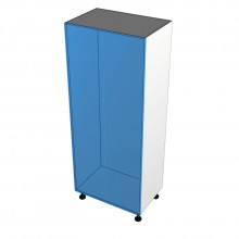 Stylelite Acrylic - Broom Cabinet - 2 Doors - No Shelf