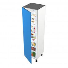 Raw MDF - Integrated Fridge Or Freezer Cabinet - 1 Door
