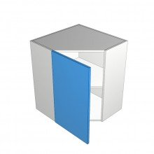 Stylelite Acrylic - Overhead Cabinet - 1 Door On Angle - Hinged Left