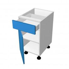 Raw MDF - Floor Cabinet - 1 Drawer - 1 Door - Hinged Left