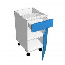Raw MDF - Floor Cabinet - 1 Drawer - 1 Door - Hinged Right