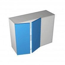 Raw MDF - Overhead Cabinet - Blind Corner - 2 Door (Left)
