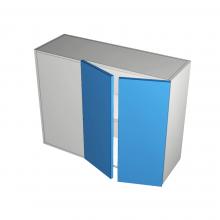 Raw MDF - Overhead Cabinet - Blind Corner - 2 Door (Right)