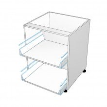 Carcass Only - Drawer Cabinet - 2 Equal Drawers (Blum)