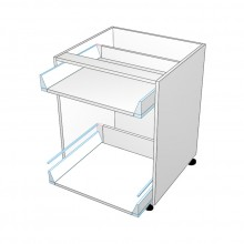 Carcass Only - Drawer Cabinet - 2 Drawers - Top Drawer Smaller (Blum)