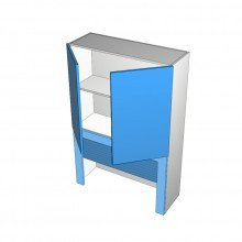Laminex 16mm ABS - Appliance Cabinet - 2 Doors - Frame and Roller Door