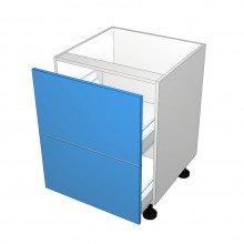Stylelite Acrylic - 2 Equal Drawer Cabinet (Blum)