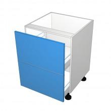 Raw MDF - Drawer Cabinet - 2 Equal Drawers (Blum Legrabox)