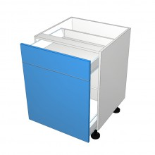 Raw MDF - Drawer Cabinet - 2 Drawers - Top Drawer Smaller (Blum)