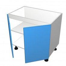 Raw MDF - Floor Cabinet - Sink - 2 Doors