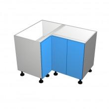 Raw MDF - Floor Cabinet - Open Corner - 3 Doors - (1 Left 2 Right)