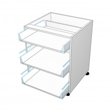 Carcass Only - Drawer Cabinet - 3 Drawers - Top Drawer Smaller (Finista)