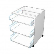 Carcass Only - Drawer Cabinet - 3 Drawers - Top Drawer Smaller (Blum)