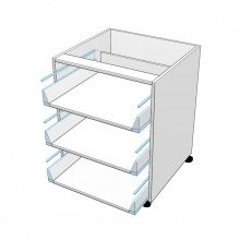 Carcass Only - Drawer Cabinet - 3 Equal Drawers (Blum)