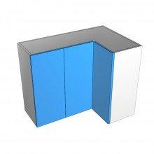 Raw MDF - Overhead Cabinet - Open Corner - 3 Doors (2 Left 1 Right)