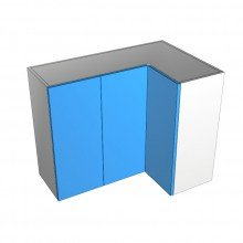 Laminex 16mm ABS - Overhead Cabinet - Open Corner - 3 Doors (2 Left 1 Right)
