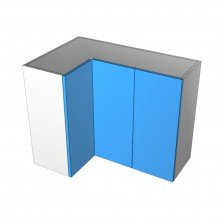 Formica 16mm ABS - Overhead Cabinet - Open Corner - 3 Doors (1Left 2 Right)