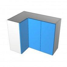 Raw MDF - Overhead Cabinet - Open Corner - 3 Doors (1Left 2 Right)