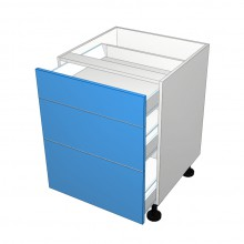 Stylelite Acrylic - 3 Drawer Cabinet - Top Drawer Smaller (Finista)