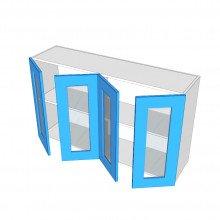 Bonlex Vinyl Wrapped - Overhead Cabinet - 4 Glass Doors (Pair)