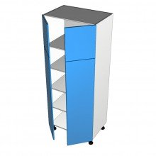 Raw MDF - Tall Cabinet - 4 Doors