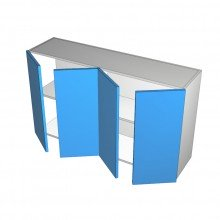 Polytec 16mm ABS - Overhead Cabinet - 4 Doors (2 Pairs)