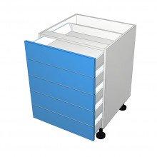 Bonlex Vinyl Wrapped - Drawer Cabinet - 5 All Unequal Drawers (Blum)