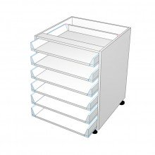 Carcass Only - Drawer Cabinet - 6 All Unequal Drawers (Blum)
