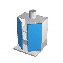 Formica 16mm ABS - Rangehood Cabinet - Slide Out - 2 Doors - 600mm