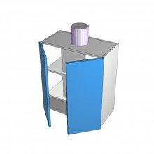 Formica 16mm ABS - Rangehood Cabinet - Undermount - 2 Doors - 600mm