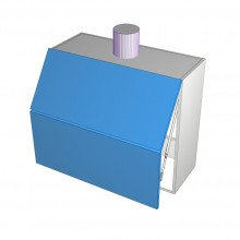 Bonlex Vinyl Wrapped - Rangehood Cabinet - Undermount - Aventos HF - 2 Doors - 900mm