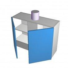 Formica 16mm ABS - Rangehood Cabinet - Undermount - 2 Doors - 900mm