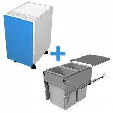 Raw MDF - 400mm Bin Cabinet - SIGE Bin