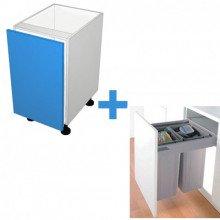 Raw MDF - 450mm Bin Cabinet - Wesco Bin