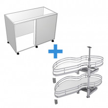 Carcass Only - Blind Corner Cabinet - SIGE Kidney Pull Out - Left Hand Opening