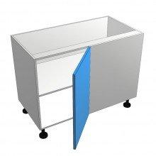Raw MDF - Floor Cabinet - Blind Corner - 1 Door - Hinged Right