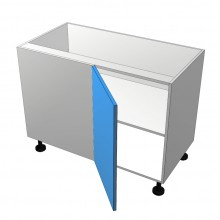 Polytec 16mm ABS - Floor Cabinet - Blind Corner - 1 Door - Hinged Left