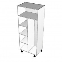Carcass Only - Broom Cabinet - Shelves Left