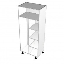 Carcass Only - Broom Cabinet - Shelves Right