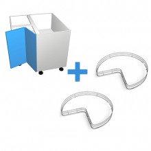 Stylelite Acrylic - 900mm Corner Cabinet - SIGE Corner Carousel - Hinged Right