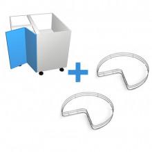 Raw MDF - 800mm Corner Cabinet - SIGE Corner Carousel - Hinged Right