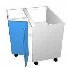 Formica 16mm ABS - Floor Cabinet - Open Corner - 2 Doors - Hinged Left