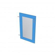 Raw MDF Glass Panel Door