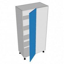Stylelite Acrylic - Pantry Cabinet - Blind Corner - 1 Door - Hinged Right